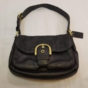 GUC Coach Black Tote Bag M0769-11842 All Leather.